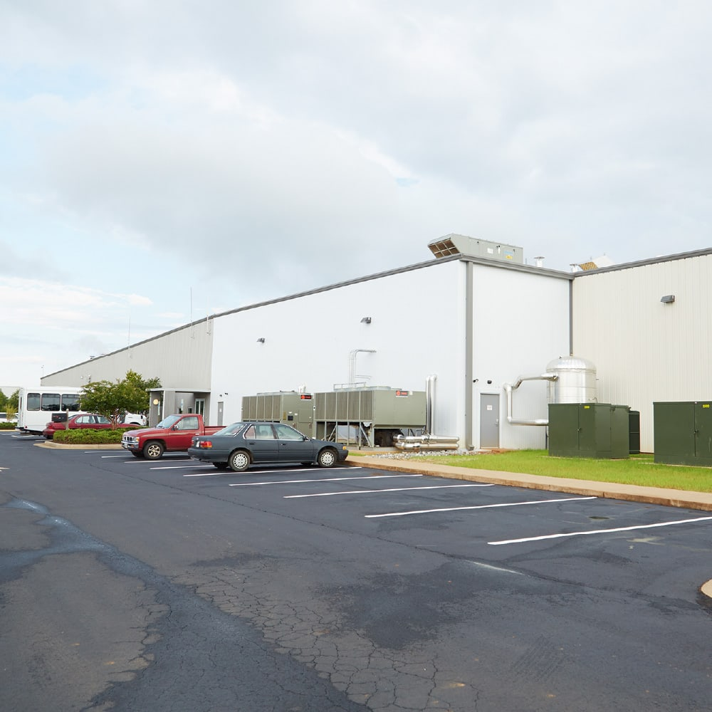 exterior of plant location in Martinsville