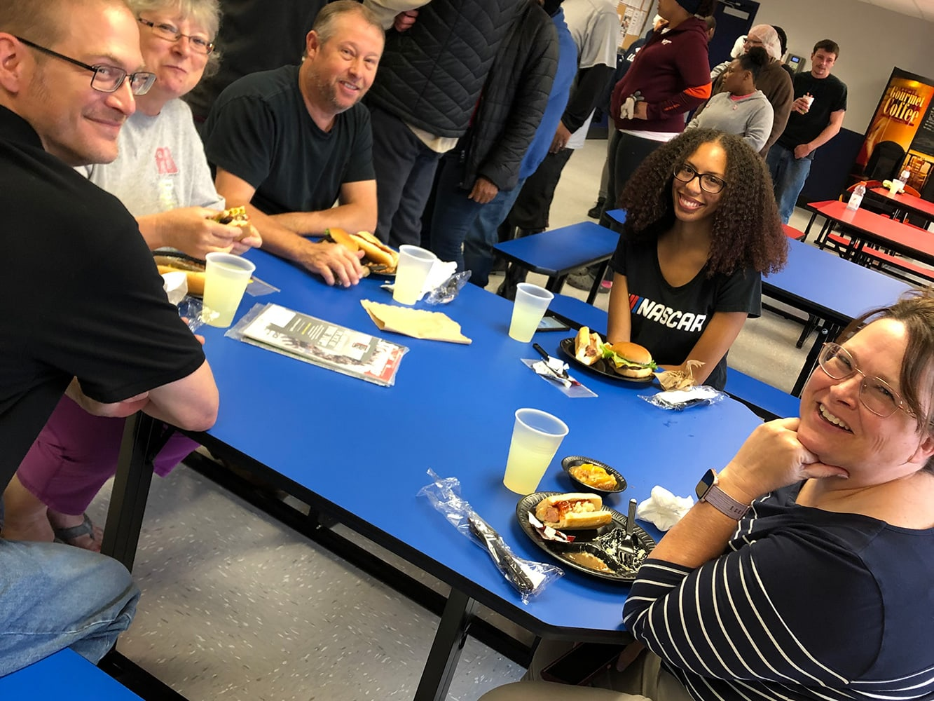 Martinsville employees take a break during annual cookout